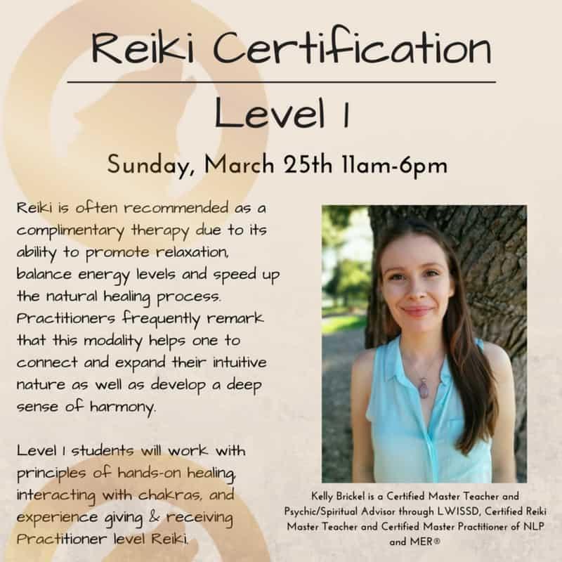Reiki Level 1 Colby Rebel Spirit Center